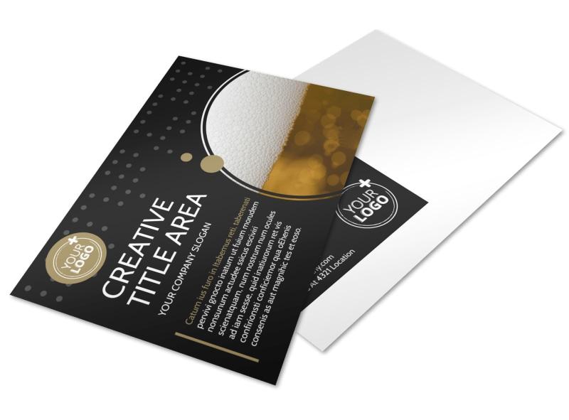 Craft Brewery Postcard Template