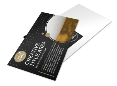 Craft Brewery Postcard Template preview