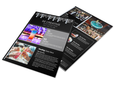 Funky Cocktail Lounge Flyer Template