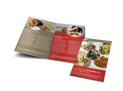 Al Dente Restaurant Bi-Fold Brochure Template preview