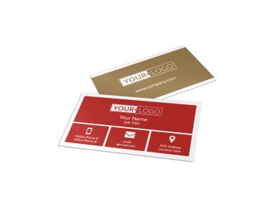 Al Dente Restaurant Business Card Template preview