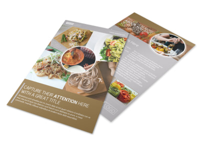 Al Dente Restaurant Flyer Template preview