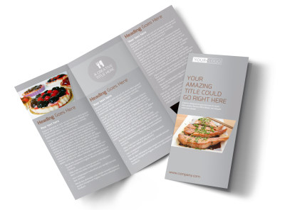 Main Event Caterers Tri-Fold Brochure Template preview