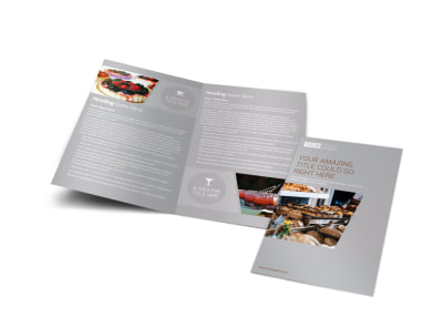 Main Event Caterers Bi-Fold Brochure Template preview