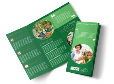 Food Co-op Tri-Fold Brochure Template preview