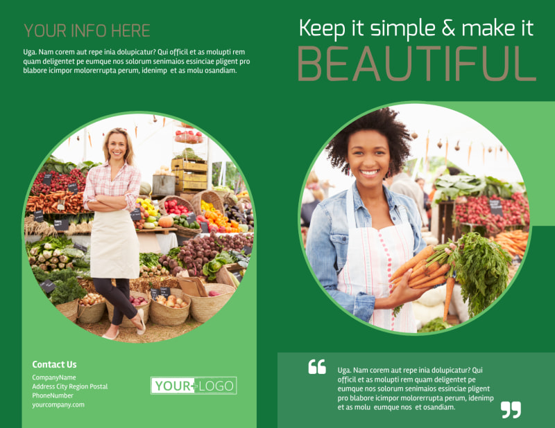 Food Co-op Brochure Template Preview 2