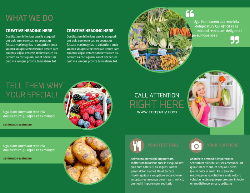 Food Co-op Brochure Template Preview 3