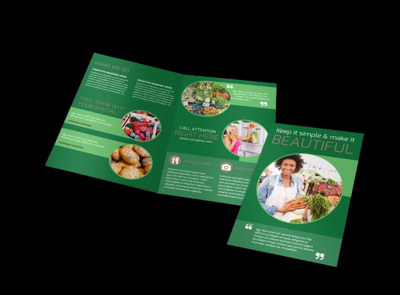 Food Co-op Brochure Template Preview 1