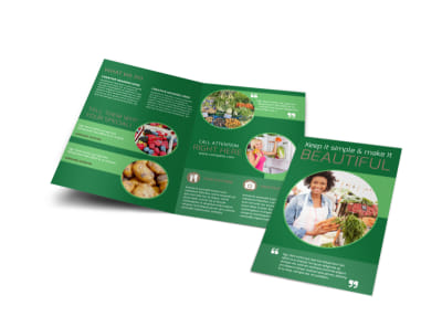 Food Co-op Bi-Fold Brochure Template preview
