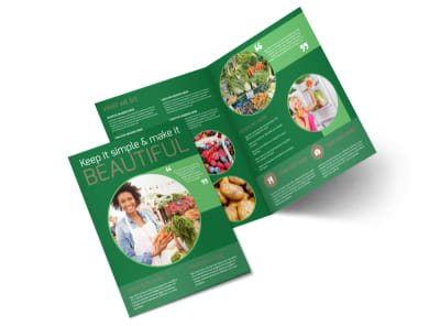 Food Co-op Bi-Fold Brochure Template