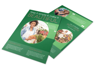 Food Co-op Flyer Template