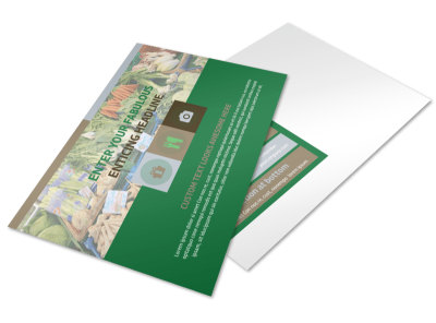 Food Co-op Postcard Template preview