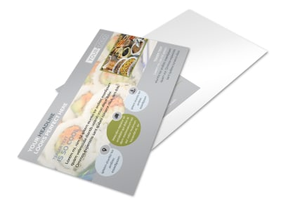 Asian Grocery Store Postcard Template preview
