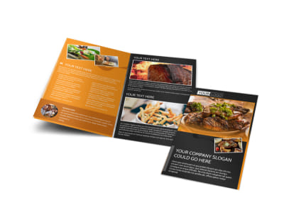 Local Steakhouse Bi-Fold Brochure Template preview