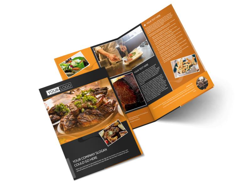 Local Steakhouse Bi-Fold Brochure Template