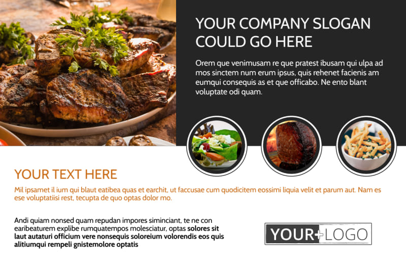 Local Steakhouse Postcard Template Preview 2