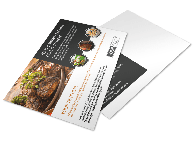 Local Steakhouse Postcard Template Preview 1