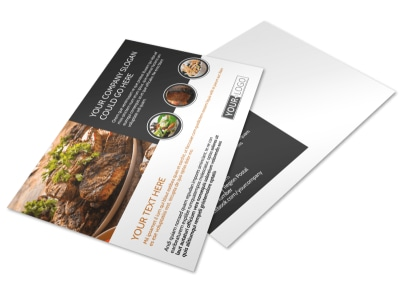 Local Steakhouse Postcard Template preview
