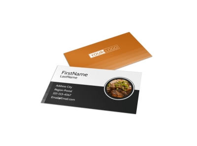 Local Steakhouse Business Card Template