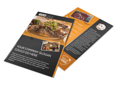 Local Steakhouse Flyer Template preview