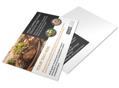 Local Steakhouse Postcard Template