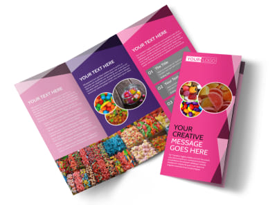 Candy Land Tri-Fold Brochure Template preview