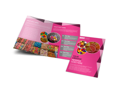 Candy Land Bi-Fold Brochure Template