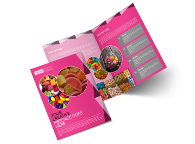 Candy Land Bi-Fold Brochure Template preview