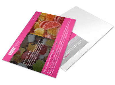 Candy Land Postcard Template preview