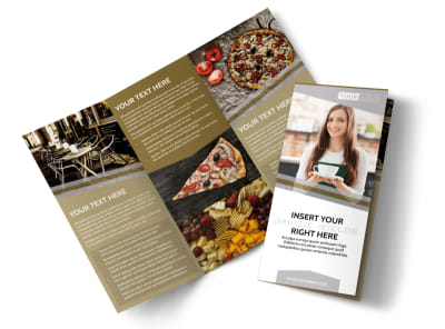 Italian Bistro Tri-Fold Brochure Template preview