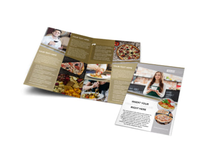 Italian Bistro Bi-Fold Brochure Template preview