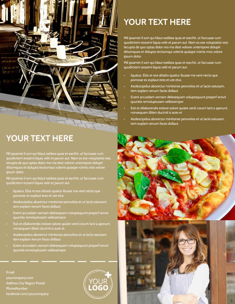 Italian Bistro Flyer Template Preview 3