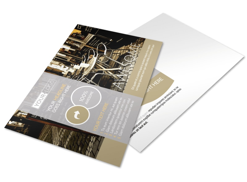 Italian Bistro Postcard Template Preview 4