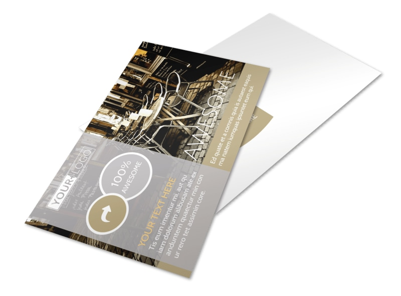 Italian Bistro Postcard Template Preview 4