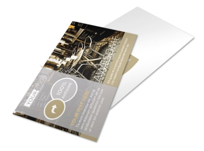Italian Bistro Postcard Template preview