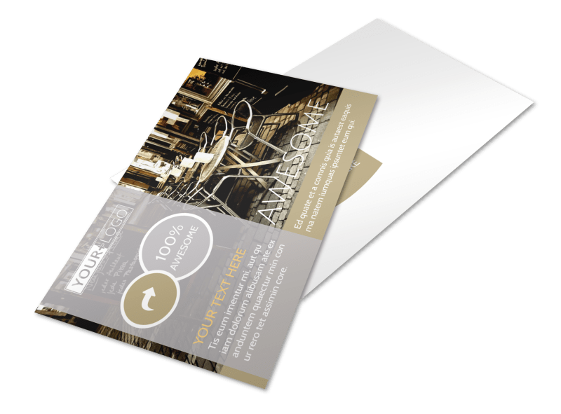 Italian Bistro Postcard Template Preview 1