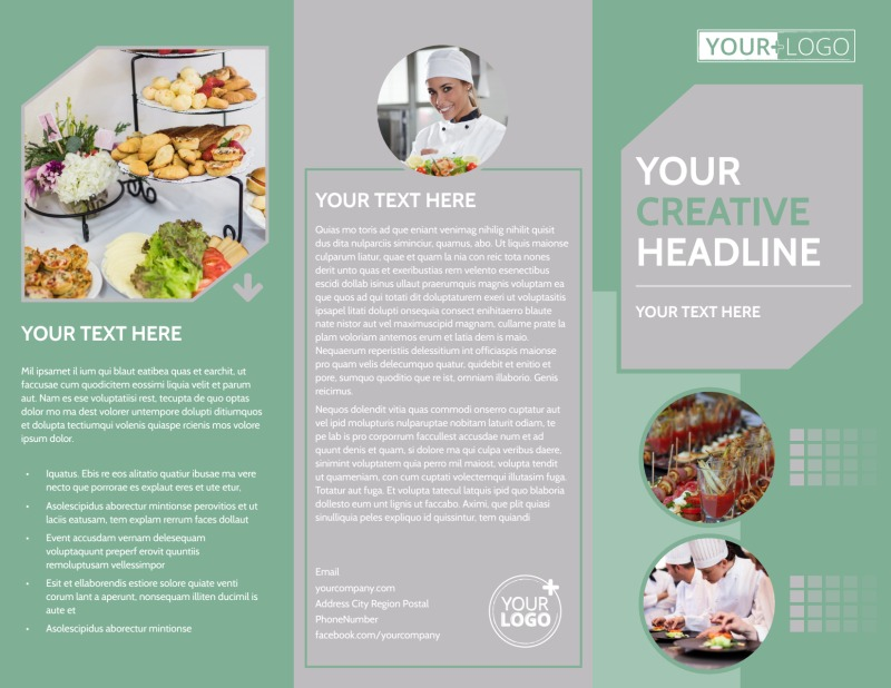 Special Event Caterers Brochure Template Preview 2