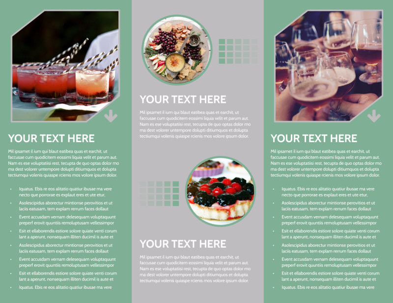 Special Event Caterers Brochure Template Preview 3