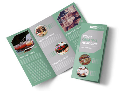 Special Event Caterers Tri-Fold Brochure Template preview
