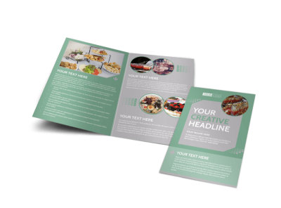 Special Event Caterers Bi-Fold Brochure Template
