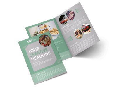 Special Event Caterers Bi-Fold Brochure Template preview