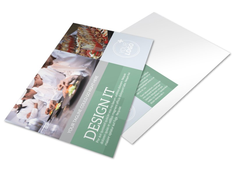 Special Event Caterers Postcard Template MyCreativeShop - Event postcard template