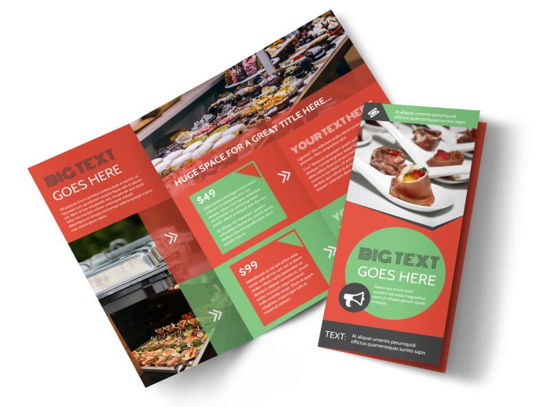 Oven Door Catering Service Tri-Fold Brochure Template