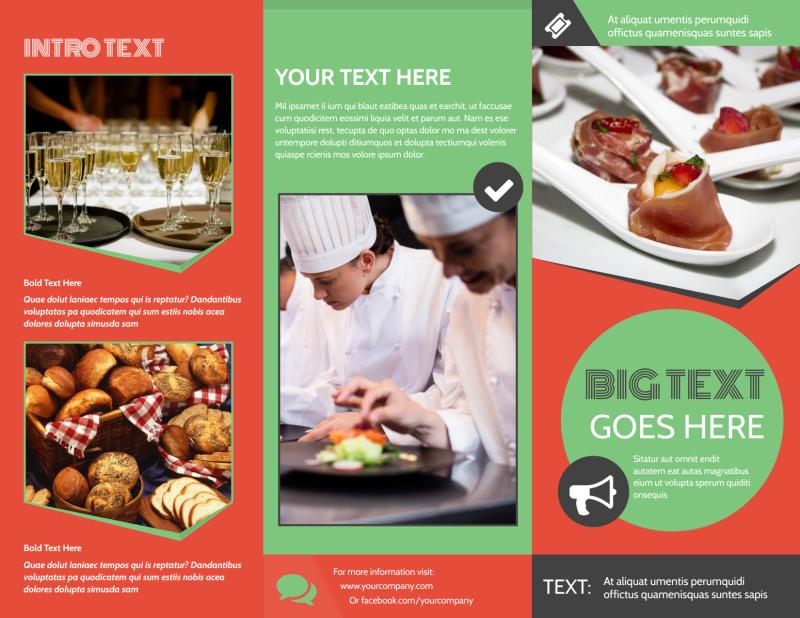 Oven Door Catering Service Brochure Template Preview 2