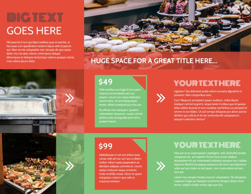 Oven Door Catering Service Brochure Template Preview 3