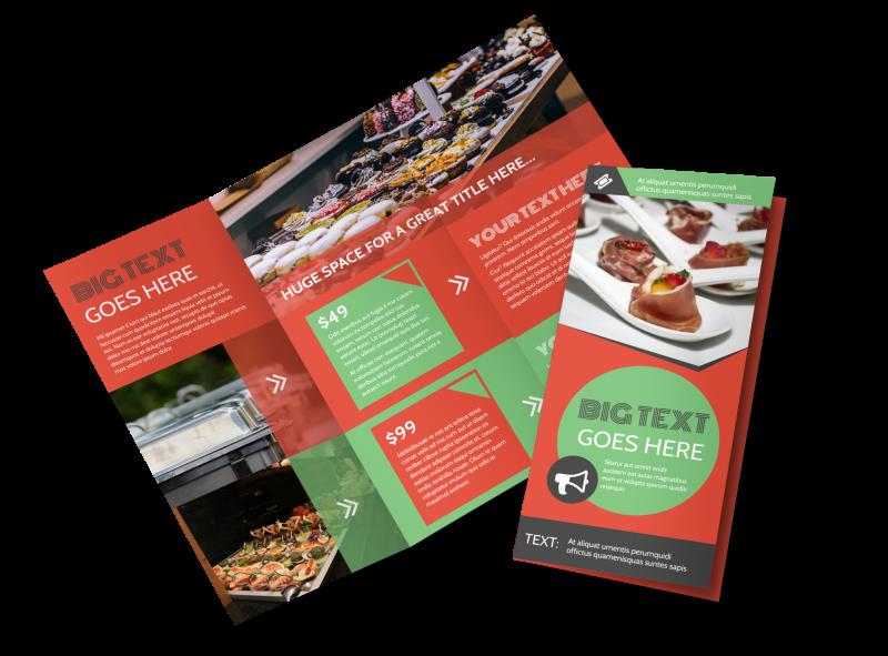 Oven Door Catering Service Brochure Template Preview 1