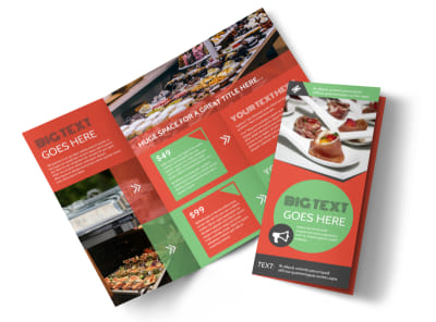 Oven Door Catering Service Tri-Fold Brochure Template preview