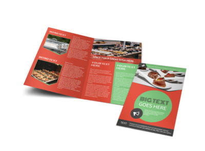 Oven Door Catering Service Bi-Fold Brochure Template preview