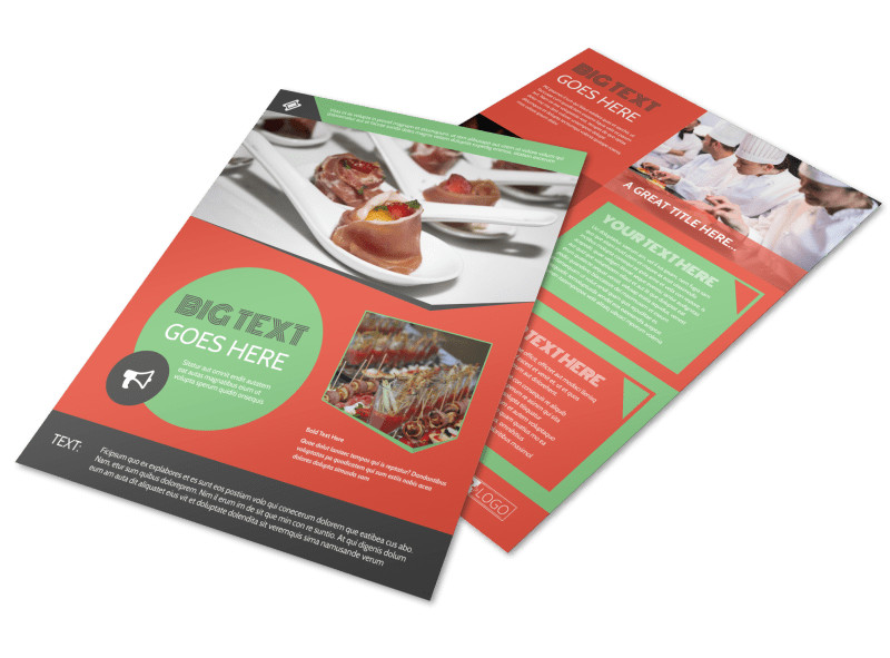 Oven Door Catering Service Flyer Template