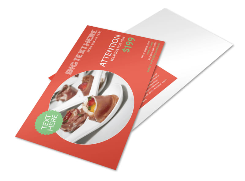 Oven Door Catering Service Postcard Template